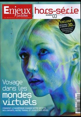"""Couverture du hors-série """"Voyage dans les mondes virtuels"""" - Magazine Enjeux les Echos"""""""